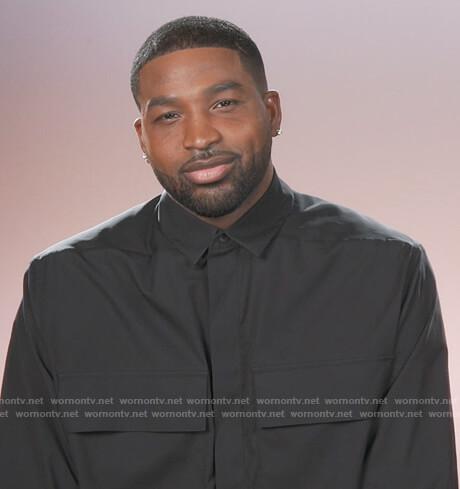 Tristan Thompson's black oversized shirt on Keeping Up with the Kardashians