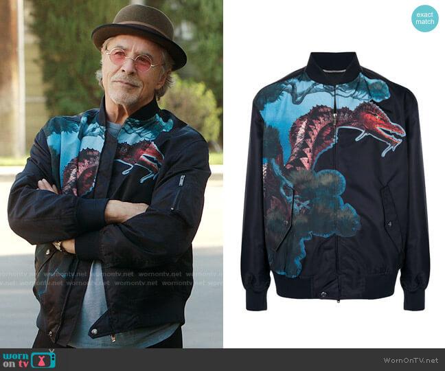 Valentino Dragon Bomber Jacket worn by Rick (Don Johnson) on Kenan