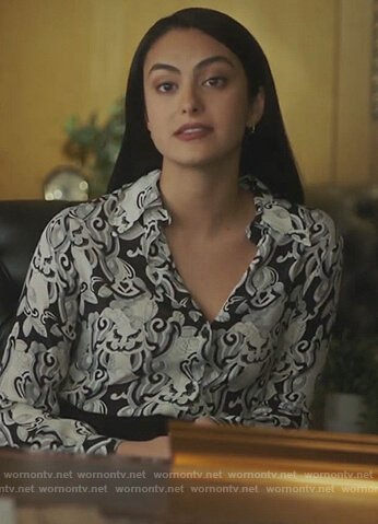 Veronica's printed blouse on Riverdale