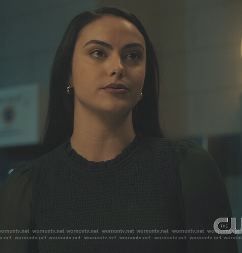 Veronica's smocked crop top on Riverdale