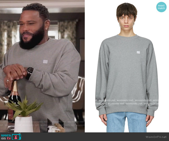 Grey Oversized Sweatshirt by Acne Studios worn by Andre Johnson (Anthony Anderson) on Blackish
