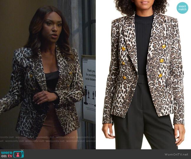Alton Leopard Print Jacket by A.L.C. worn by Rachel Audubon (Michelle Bathe) on All Rise