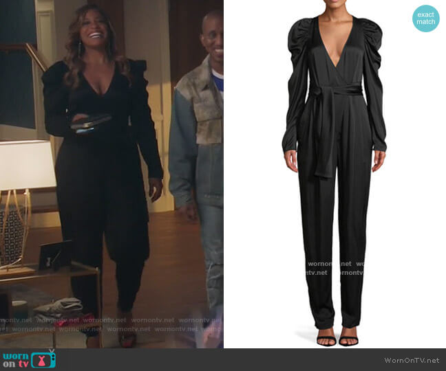 Christian Puff-Sleeve Belted Jumpsuit by ALC  worn by Mika (Kimrie Lewis) on Kenan