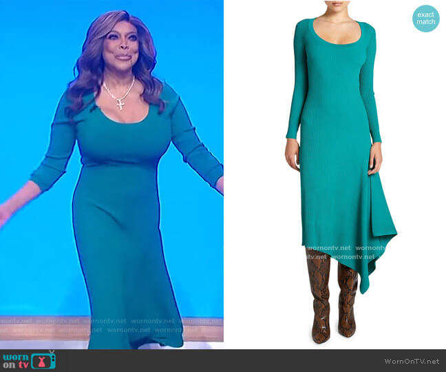 Olivia Scoopneck Knit Midi Dress by A.L.C. worn by Wendy Williams  on The Wendy Williams Show