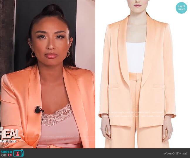 Kylie Shawl-Collar Blazer by Alice + Olivia worn by Jeannie Mai  on The Real
