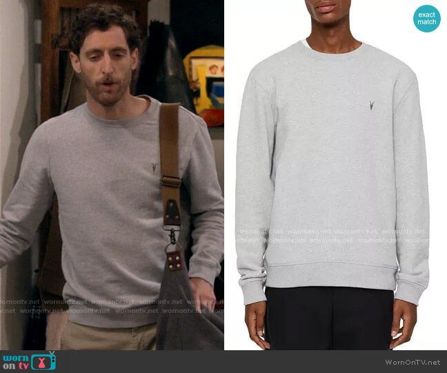 All Saints Raven Sweatshirt worn by Drew Dunbar (Thomas Middleditch) on B Positive