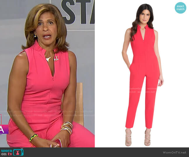 Antoinette Jumpsuit by Black Halo worn by Hoda Kotb  on Today