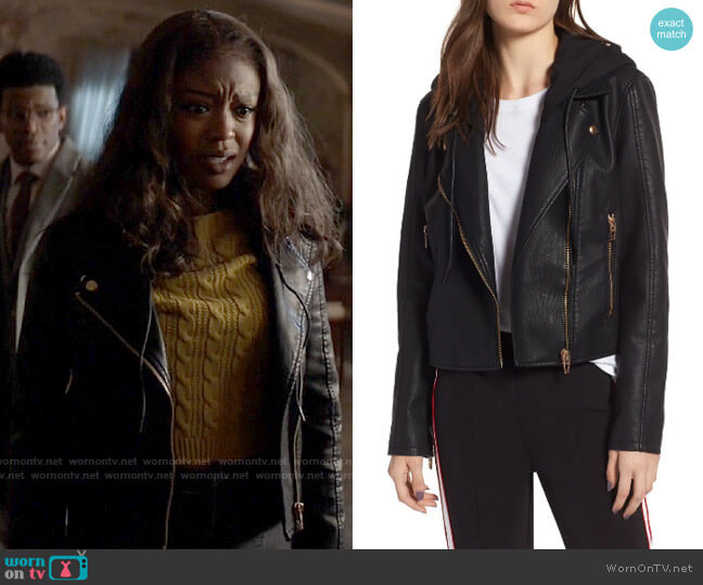 Blank NYC Meant to Be Moto Jacket with Removable Hood worn by Ryan Wilder (Javicia Leslie) on Batwoman