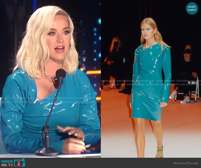 SS Collection 2021 by Bottega Veneta worn by Katy Perry  on American Idol