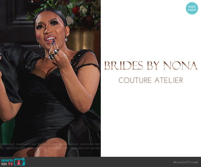 Custom Dress by Brides by Nona worn by Drew Sidora  on The Real Housewives of Atlanta