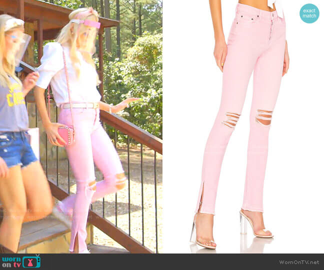 High Split Jean by Cotton Citizen worn by Kameron Westcott  on The Real Housewives of Dallas