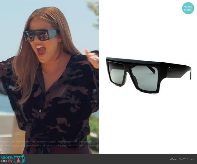 Flat Top Acetate Sunglasses by Celine worn by Khloe Kardashian  on Keeping Up with the Kardashians