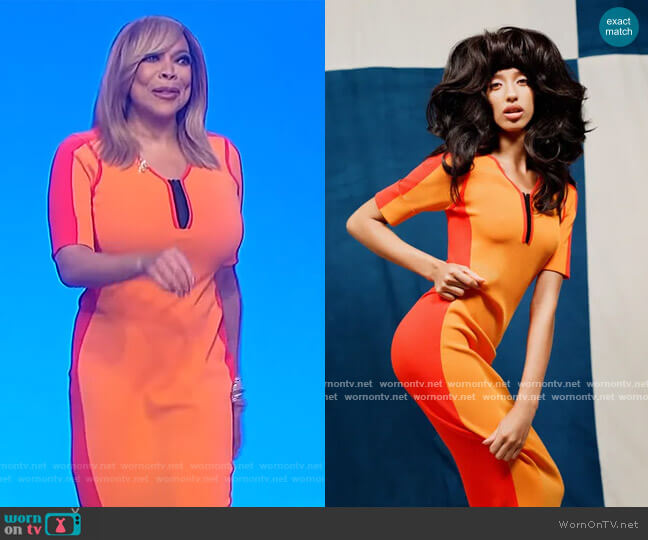 2021 Spring Collection by Christopher John Rogers worn by Wendy Williams  on The Wendy Williams Show