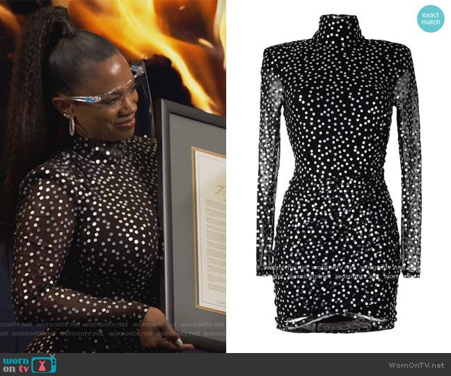 Marlene Dress by Cinq a Sept worn by Kandi Burruss  on The Real Housewives of Atlanta