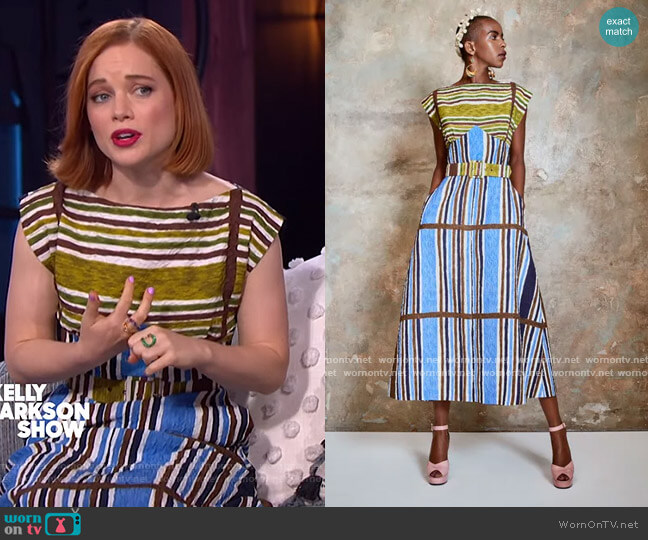 2021 Spring Collection by Duro Olowu worn by Jane Levy on The Kelly Clarkson Show