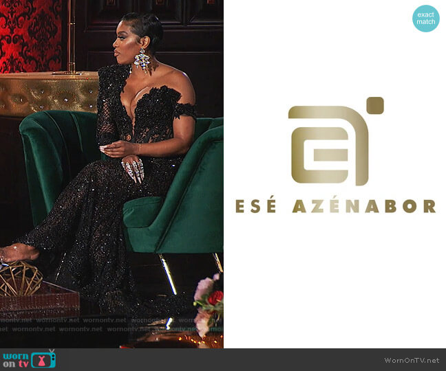 Custom Dress by Ese Azenabor worn by Porsha Williams  on The Real Housewives of Atlanta