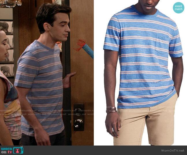 Faherty Sunwash Stripe T-Shirt worn by Freddie Raine (Joey Bragg) on Call Your Mother