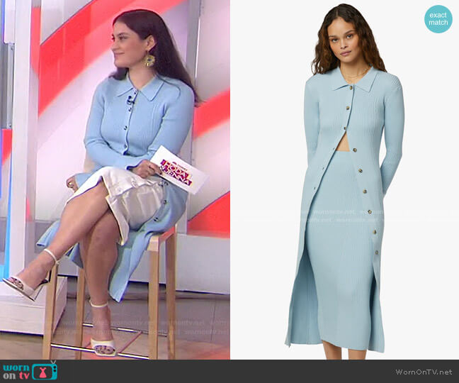 The Lena Long Cardigan by Favorite Daughter worn by Donna Farizan  on Today