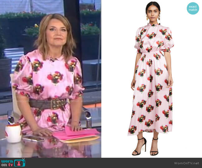 Floral Smocked Dress by Adam Lippes worn by Savannah Guthrie  on Today