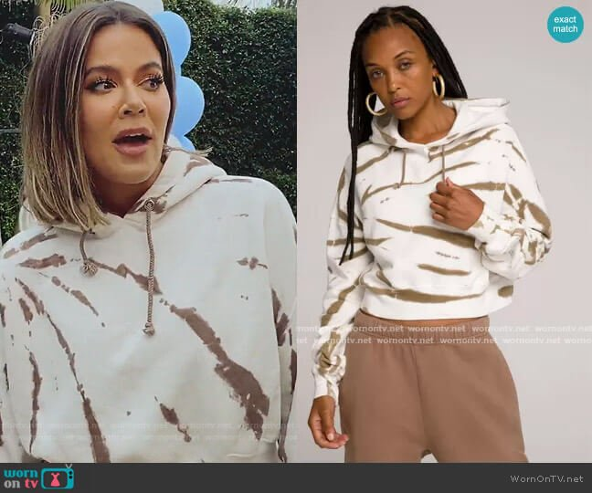 Cropped and Cool Hoodie by Good American worn by Khloe Kardashian  on Keeping Up with the Kardashians