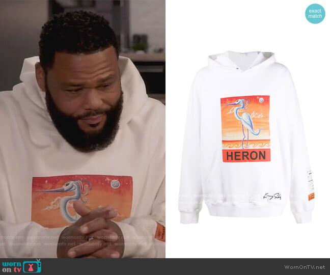 Heron hooded sweatshirt by Heron Preston worn by Andre Johnson (Anthony Anderson) on Blackish