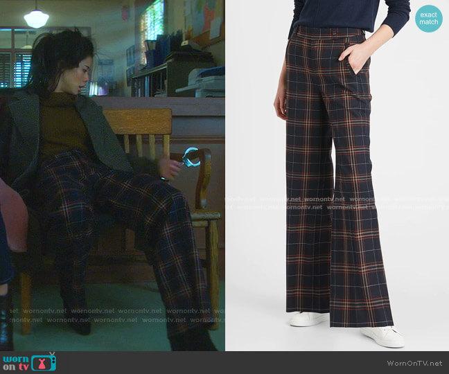 High-Rise Slim Wide-Leg Pant by Banana Republic worn by George Fan (Leah Lewis) on Nancy Drew