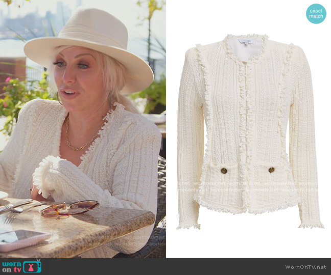 Ikaterina Fringe Knit Jacket by Intermix worn by Margaret Josephs  on The Real Housewives of New Jersey