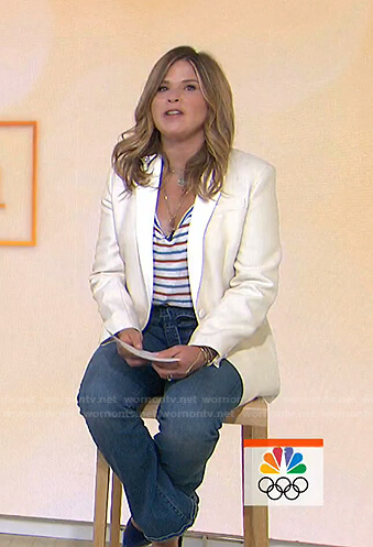 Jenna's striped tee and tie waist jeans on Today