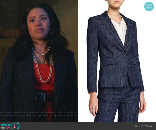 Anilah Blazer by Joie worn by Mariana Foster (Cierra Ramirez) on Good Trouble