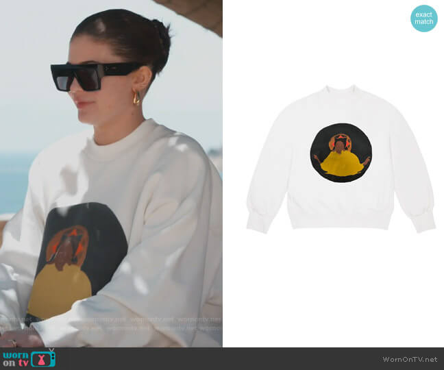 Jesus is King Chicago crew neck sweatshirt by Kanye West worn by Kylie Jenner  on Keeping Up with the Kardashians