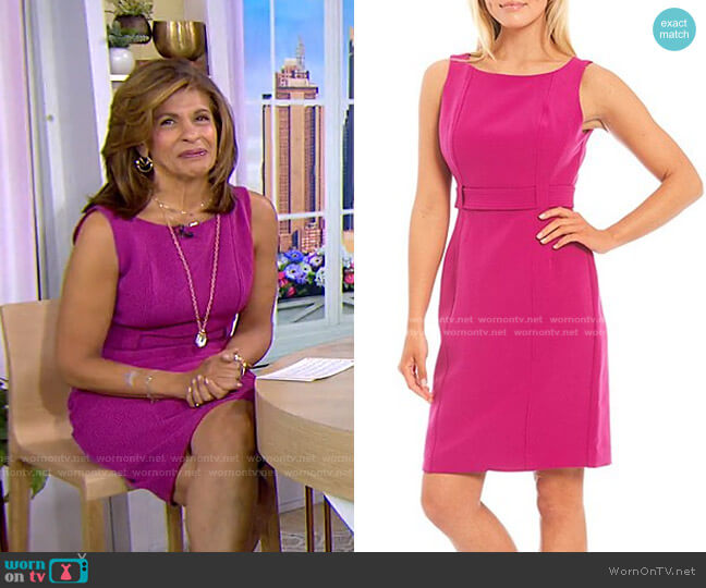 Annemarie Stretch Crepe Solid Sleeveless Dress by LDT worn by Hoda Kotb  on Today