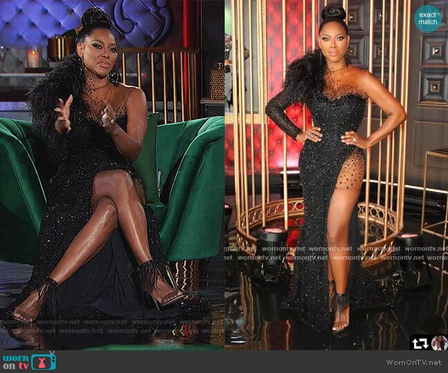 Custom Dress by LSO Designs by Linda Stokes worn by Kenya Moore  on The Real Housewives of Atlanta
