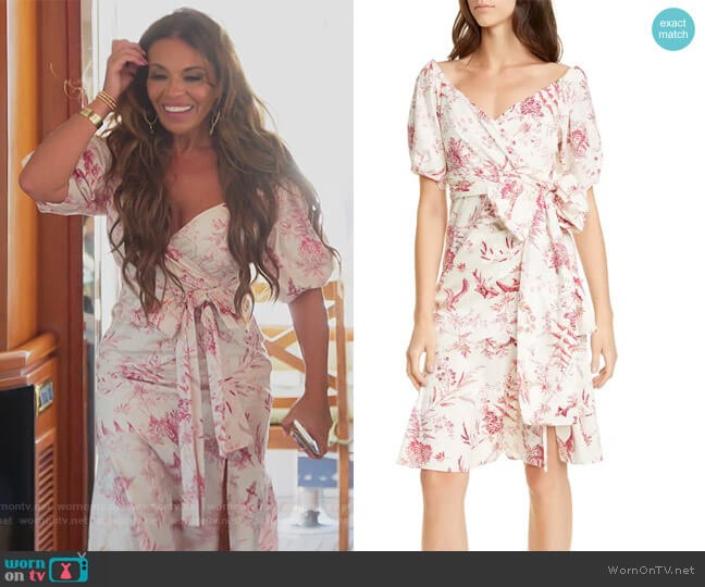 Averie Wrap Dress by La Vie Rebecca Taylor worn by Dolores Catania  on The Real Housewives of New Jersey