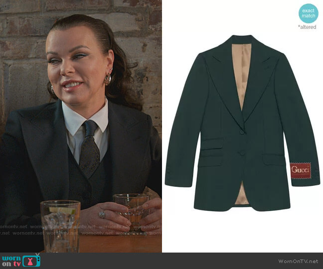Label Single-Breasted Blazer by Gucci worn by Maggie (Debi Mazar) on Younger