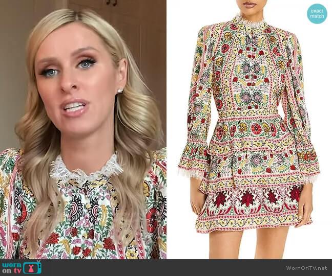 Lawson Tiered Mini Dress by Alice + Olivia worn by Nicky Hilton on GMA
