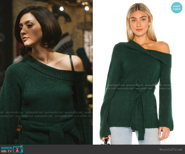 Christi Sweater by Lovers + Friends worn by Rosanna Williams (Katie Findlay) on Zoeys Extraordinary Playlist