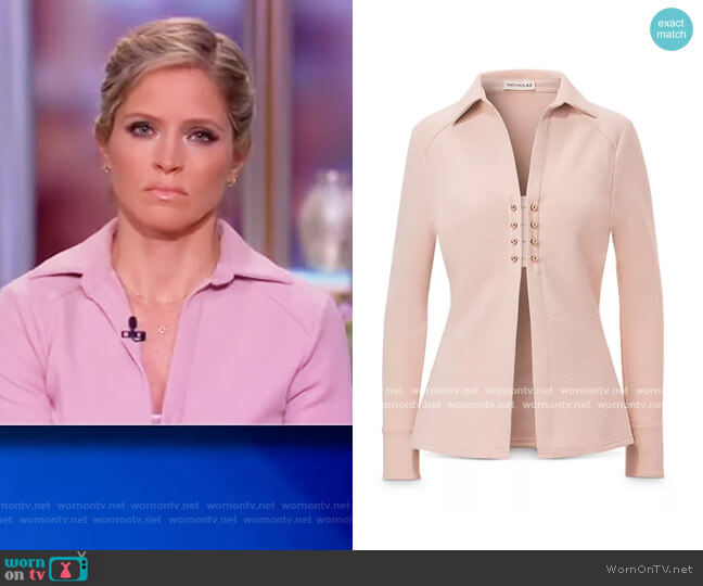 Athena Top by Nicholas worn by Sara Haines  on The View