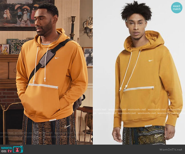Standard Issue Basketball Hoodie by Nike worn by Moz McKellan (Anthony Alabi) on Family Reunion