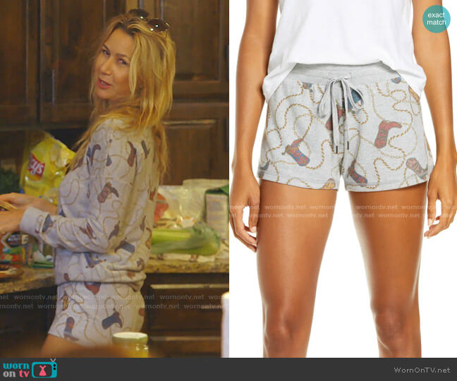 Western Jam Pajama Shorts by PJ Salvage  worn by Kary Brittingham  on The Real Housewives of Dallas