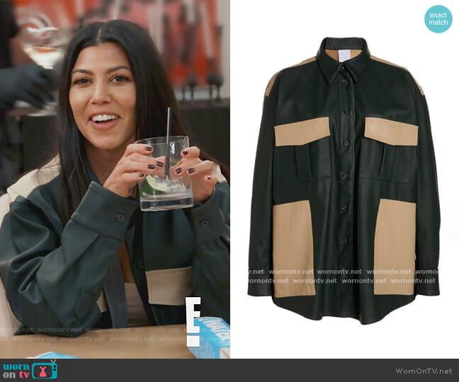 Dylan Leather Jacket by Paris Georgia worn by Kourtney Kardashian  on Keeping Up with the Kardashians