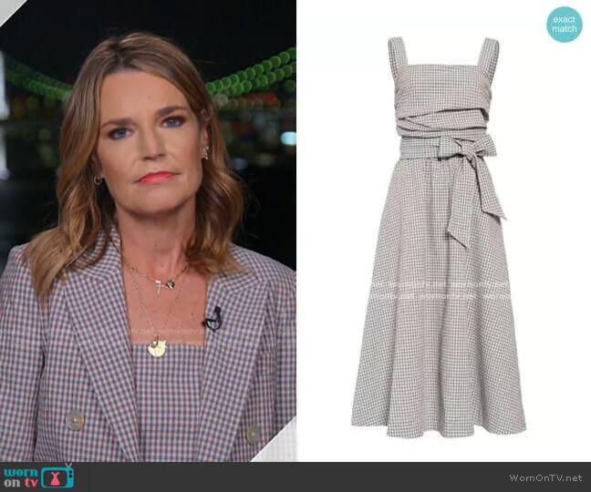 Positano Dress by Veronica Beard worn by Savannah Guthrie  on Today