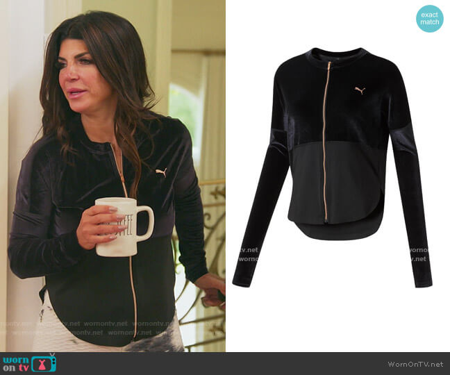 Statement Jacket by Puma worn by Teresa Giudice  on The Real Housewives of New Jersey