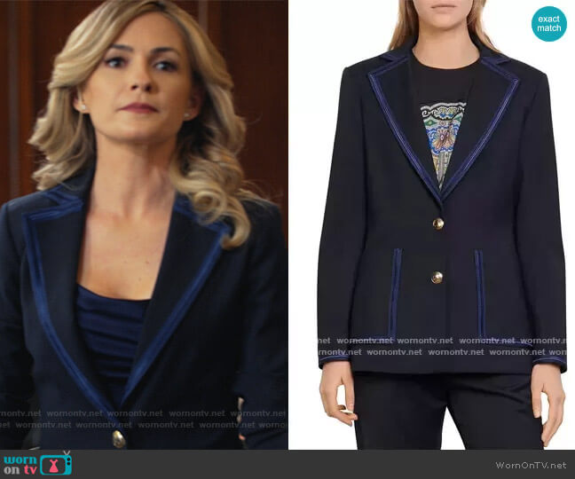 Haney Tailored Blazer by Sandro worn by Amy Quinn (Lindsey Gort) on All Rise