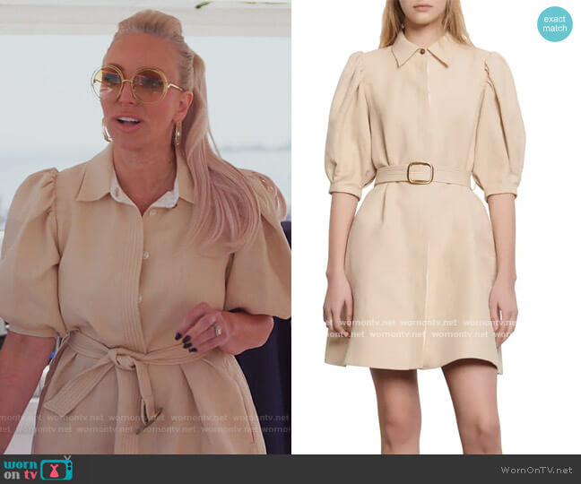 Luno Puff Sleeve Shirtdress by Sandro worn by Margaret Josephs  on The Real Housewives of New Jersey