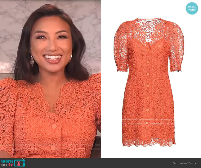 Shirt Dress by Sandro worn by Jeannie Mai  on The Real