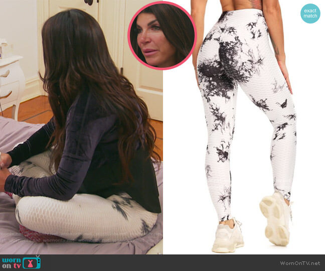 Tie Dye Yoga Pants by Seasum worn by Teresa Giudice  on The Real Housewives of New Jersey