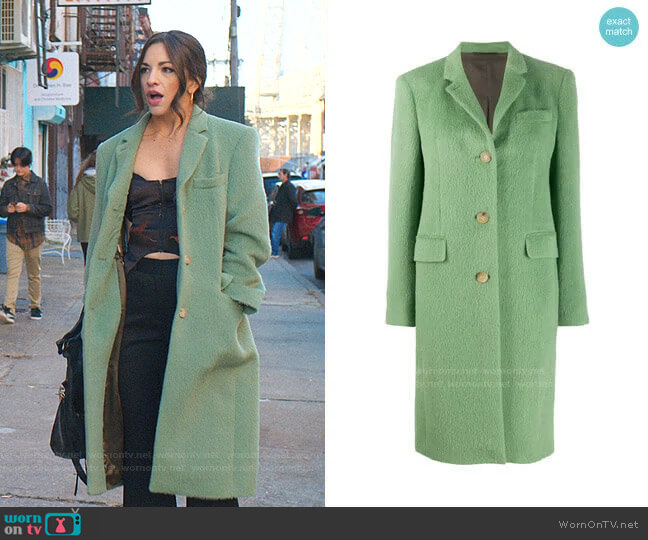 Single-Breasted Coat by Acne Studios worn by Ana Villafañe on Younger