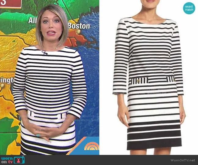 Stripe Shift Dress by Eliza J worn by Dylan Dreyer  on Today