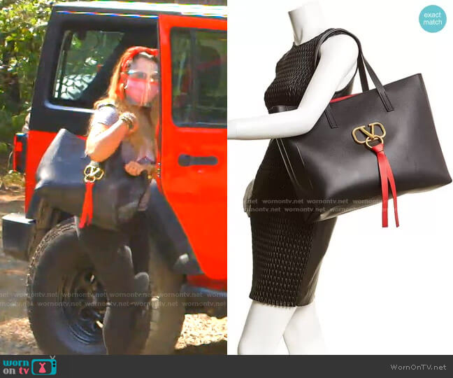 V-Ring Large Tote by Valentino worn by D'Andra Simmons  on The Real Housewives of Dallas