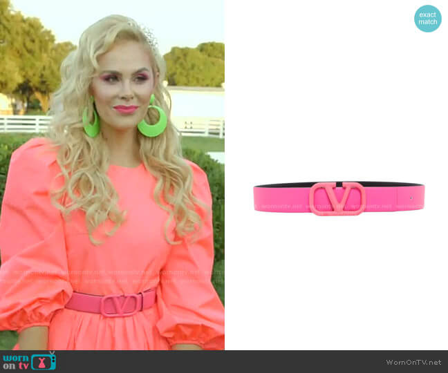 VLOGO Buckle Belt by Valentino Garavani worn by Kameron Westcott  on The Real Housewives of Dallas